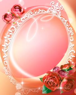 花とフレームのイラスト素材 [FYI01446257]