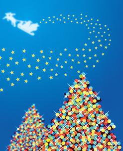クリスマスツリーとそりのイラスト素材 [FYI01446288]