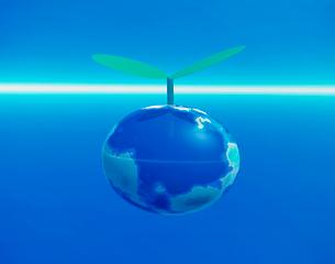 CG 地球の新芽のイラスト素材 [FYI01449358]