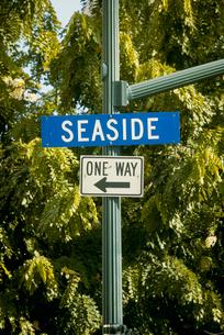 一方通行の標識の写真素材 [FYI01449429]