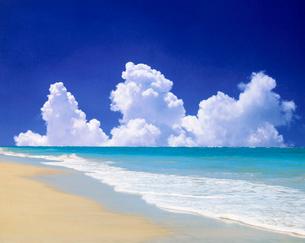 ビーチと雲の写真素材 [FYI01449619]