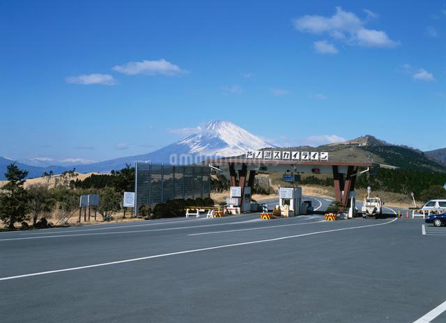 芦ノ湖スカイライン入口の写真素材 [FYI01450544]