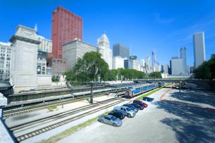 ミニチュア写真 シカゴ鉄道の写真素材 [FYI01451726]