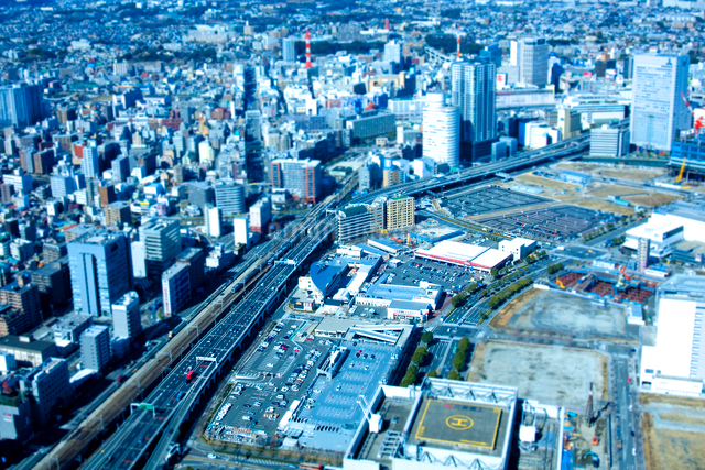 ミニチュア写真 横浜駅周辺の写真素材 [FYI01451909]