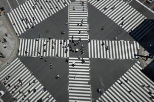 スクランブル交差点の写真素材 [FYI01452978]