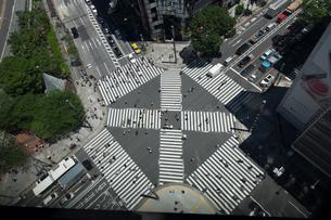 銀座スクランブル交差点の写真素材 [FYI01452984]