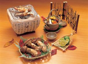 松茸料理の写真素材 [FYI01453054]