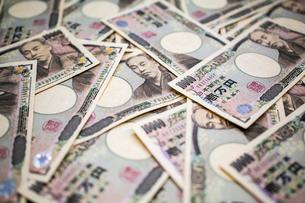 一面の一万円札の写真素材 [FYI01453520]