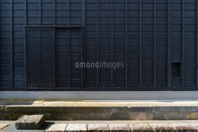 飛騨古川の建物壁面の写真素材 [FYI01453559]