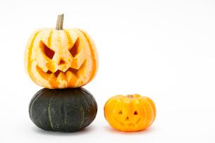 ハロウィンかぼちゃ(ジャック・オ・ランタン)の写真素材 [FYI01456021]