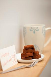 バレンタインの生チョコの写真素材 [FYI01456246]