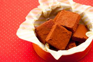 手作り生チョコプレゼントの写真素材 [FYI01456305]