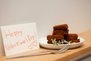 バレンタインの生チョコの写真素材 [FYI01456446]