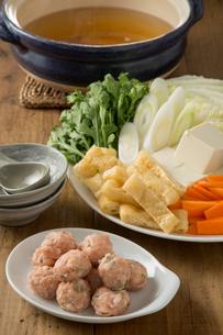 ちゃんこ鍋の食材の写真素材 [FYI01456623]