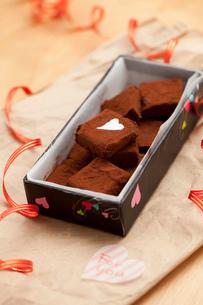 手作り生チョコプレゼントの写真素材 [FYI01456649]