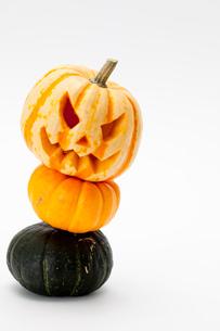 ハロウィンかぼちゃ(ジャック・オ・ランタン)の写真素材 [FYI01456699]