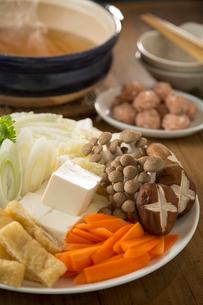 ちゃんこ鍋の食材の写真素材 [FYI01456882]