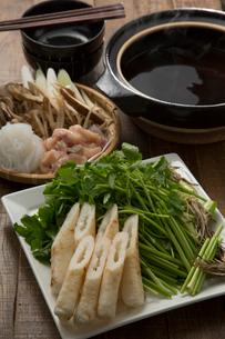きりたんぽ鍋の食材の写真素材 [FYI01457666]