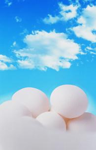 青空と卵のイメージのイラスト素材 [FYI01457867]