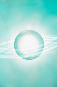 宙に浮く球体の写真素材 [FYI01458582]