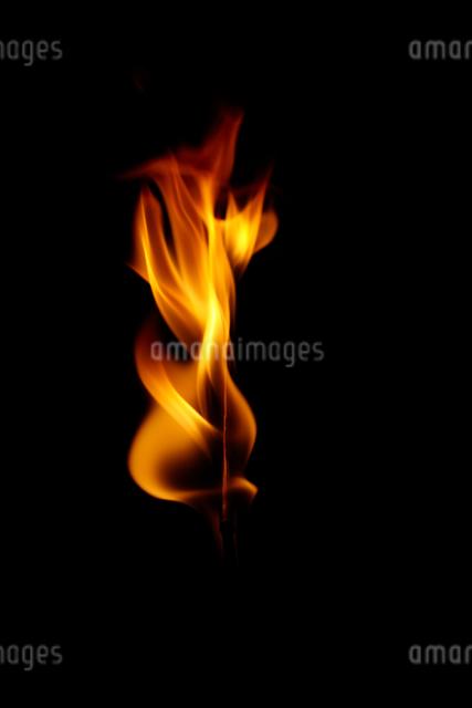 激しく燃える炎の写真素材 [FYI01459800]