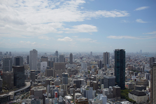 高層ビルより見る大阪梅田ビル群の写真素材 [FYI01460284]