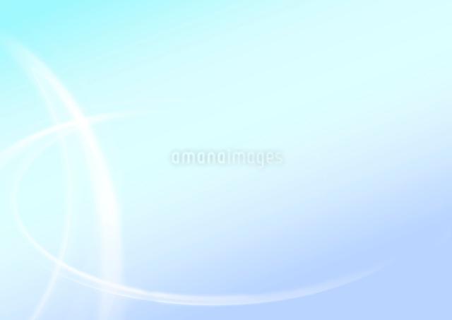 水色の背景に白い曲線の写真素材 [FYI01460339]