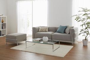グレーのソファーが在るリビングの写真素材 [FYI01460371]
