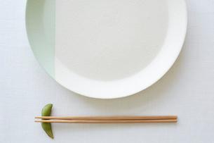 お皿とお箸の写真素材 [FYI01460587]