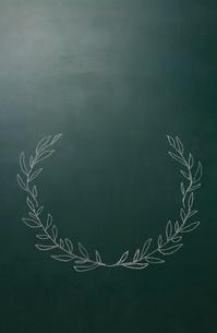 黒板に描いた植物の飾りのイラスト素材 [FYI01461692]