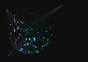 複数の線で繋がった点の写真素材 [FYI01462153]