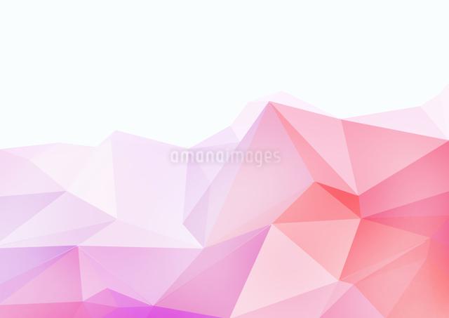 白バックとピンク系のポリゴン模様の写真素材 [FYI01462360]