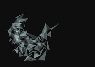 三角形でできた幾何学模様の写真素材 [FYI01462630]