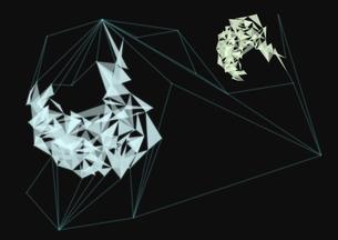 三角形と直線でできた幾何学模様の写真素材 [FYI01462688]
