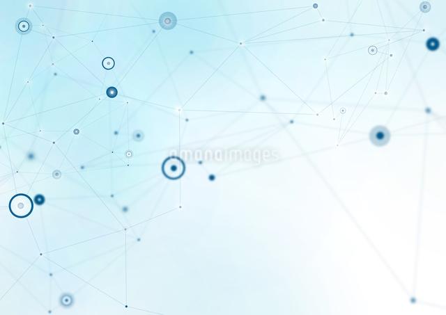 複数の線で繋がった点の写真素材 [FYI01462718]
