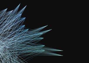 黒バックに多数の青い線の写真素材 [FYI01462763]