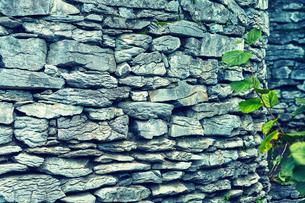 石垣の壁の写真素材 [FYI01462854]