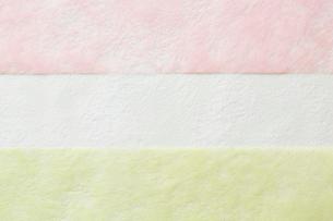 3色の和紙の写真素材 [FYI01463352]