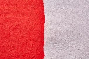 紅白の和紙の写真素材 [FYI01463463]