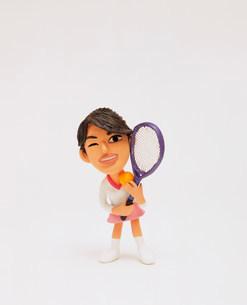 クラフト テニスをする人の写真素材 [FYI01463983]