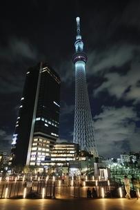 夜の東京スカイツリーの写真素材 [FYI01464013]