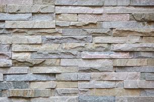 石レンガの壁の写真素材 [FYI01464025]