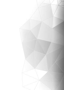 白バックとグレー系のポリゴン模様の写真素材 [FYI01464152]