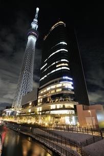 東京スカイツリーライトアップ(防災の日)の写真素材 [FYI01464334]