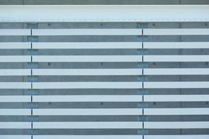 鉄の白い柵の写真素材 [FYI01464517]