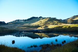 秋の砥峰高原の朝の写真素材 [FYI01464651]