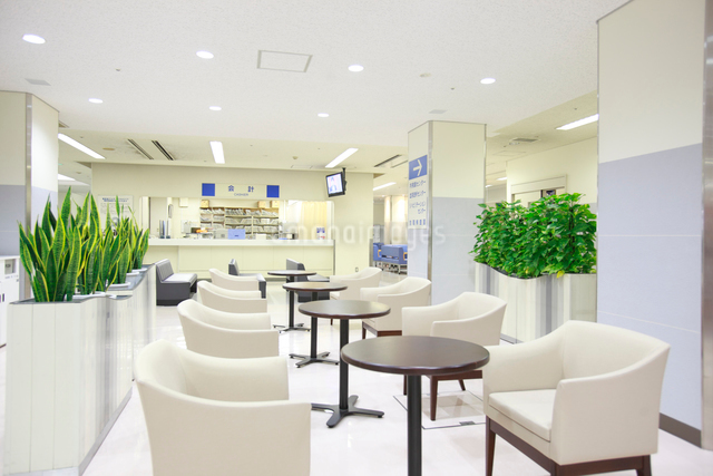 病院待合室イメージの写真素材 [FYI01465214]