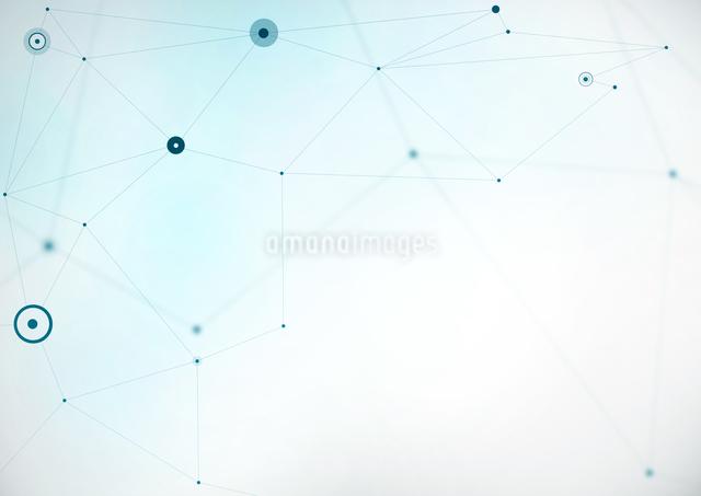 複数の線で繋がった点の写真素材 [FYI01465586]