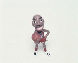 バスケットボールプレーヤーのクラフトの写真素材 [FYI01466496]