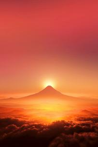 富士山の日の出のイラスト素材 [FYI01466676]